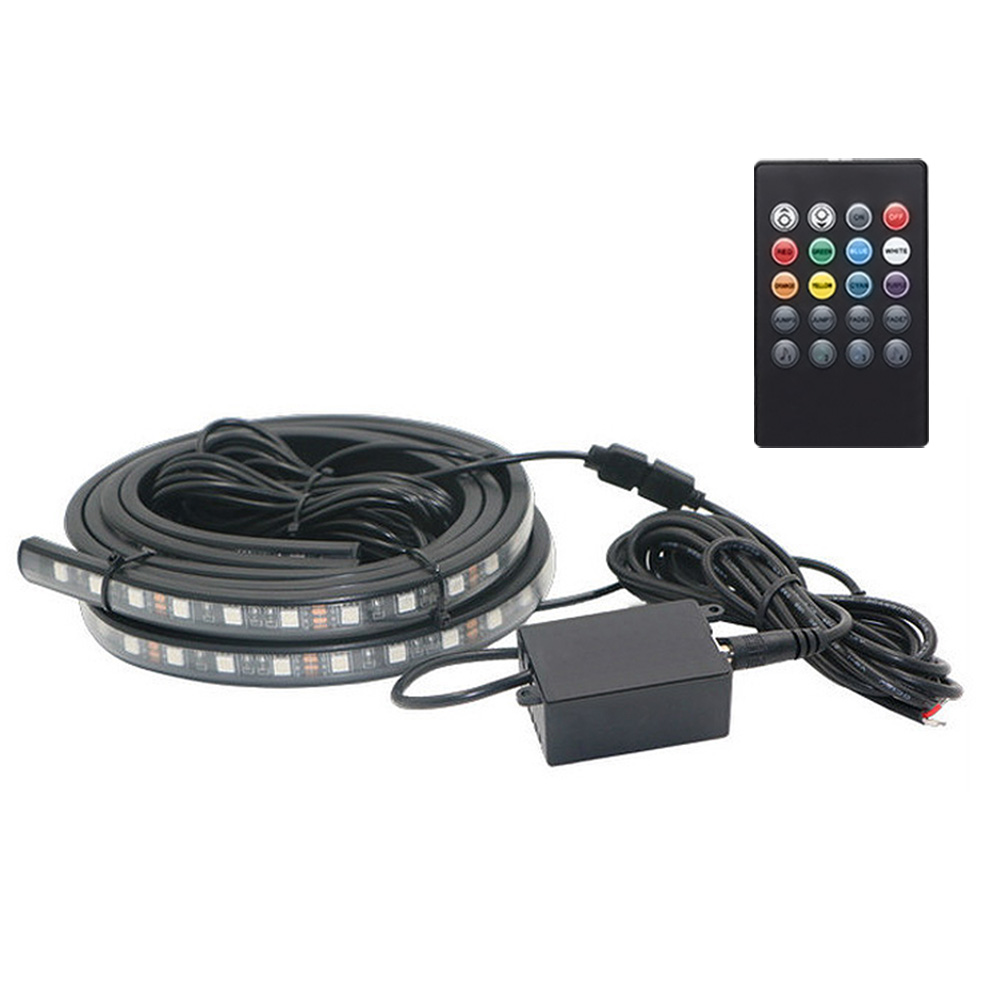 Car RGB LED Strip Light Neon Waterproof Automobile Interior Decorative Styling Atmosphere Lamps With Remote Control YAN88