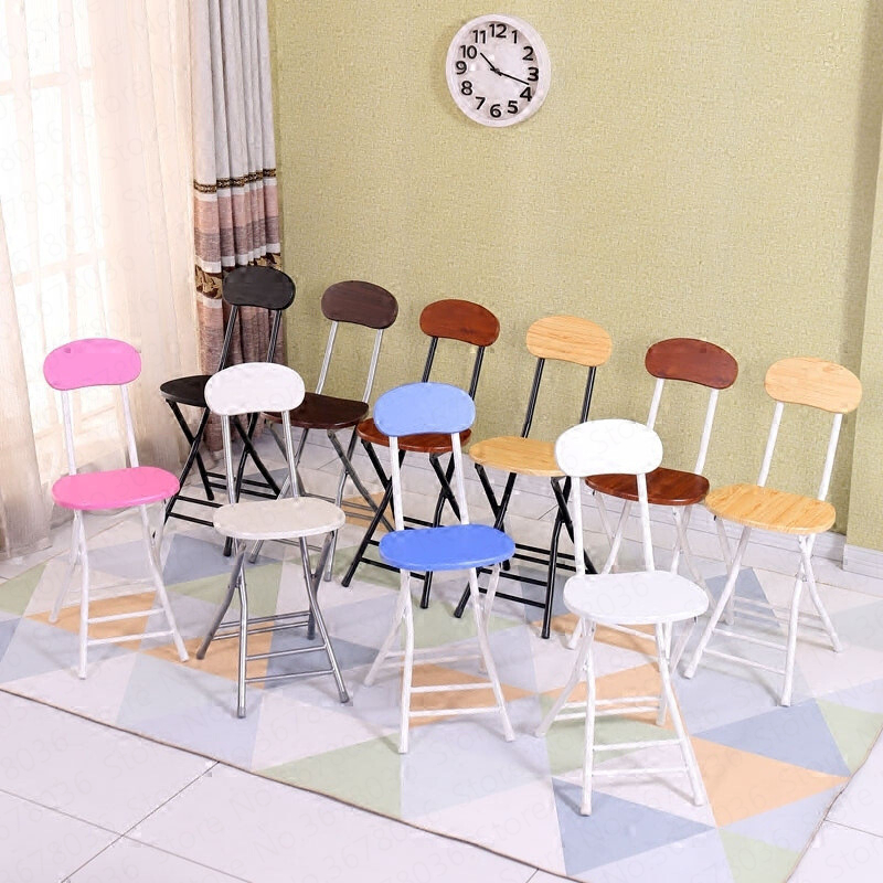 Folding Chair Stool Home Chair Dining Table Stool High Fashion Small Stool Backrest Bench Simple Simple Portable Creative