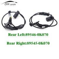 1Pair Car styling ABS Wheel Speed Sensor Rear Right & Left 89545-0K070 89546-0K070 For Toyota Hilux Vigo