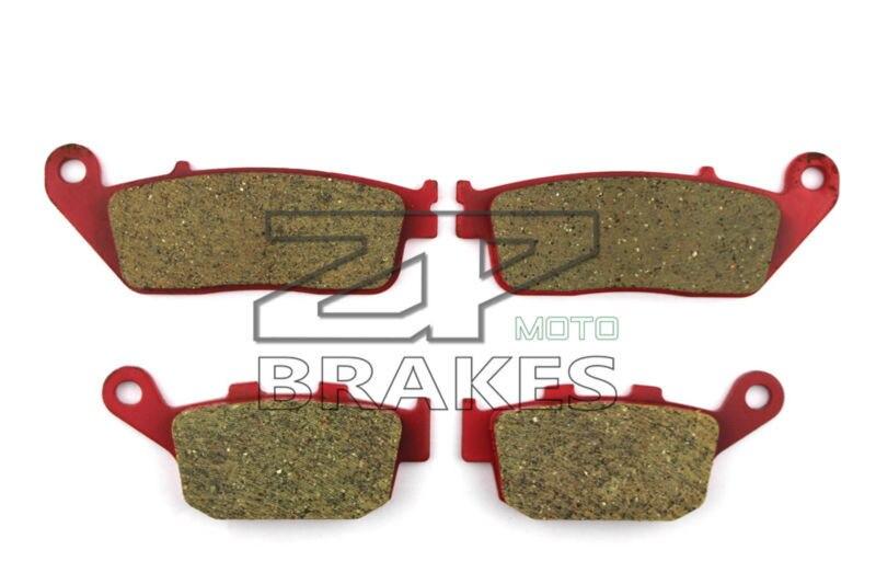 ФОТО Brake Pads Ceramic For F+R Honda CB 400 F (CB-1) 1989-1990 NT 650 Hawk GT 1988-1991 OEM New High Quality ZPMOTO
