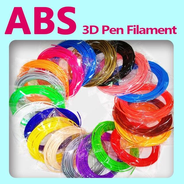 איכות מוצר abs 1.75mm 20 צבעים 3d עט נימה pla נימה abs נימה 3d עט פלסטיק 3d הדפסת נימה abs פלסטיק