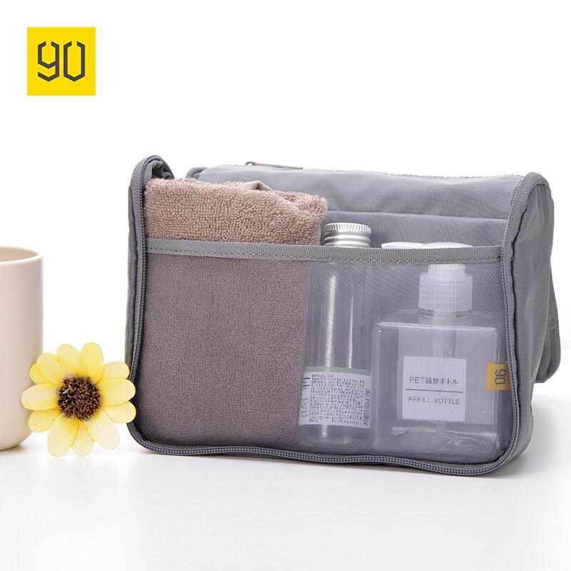все цены на XIAOMI 90FUN Waterproof Portable Wash Bag Women Makeup Cosmetic Organizer kit in luggage Travel Trip Vacation Travel Storage