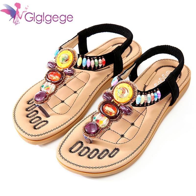 все цены на Glglgege Women Sandals Size 36-41 Summer Shoes Woman Flip Flops 2018 New Summer Female Shoes Beach Flat Sandals Zapatos Mujer