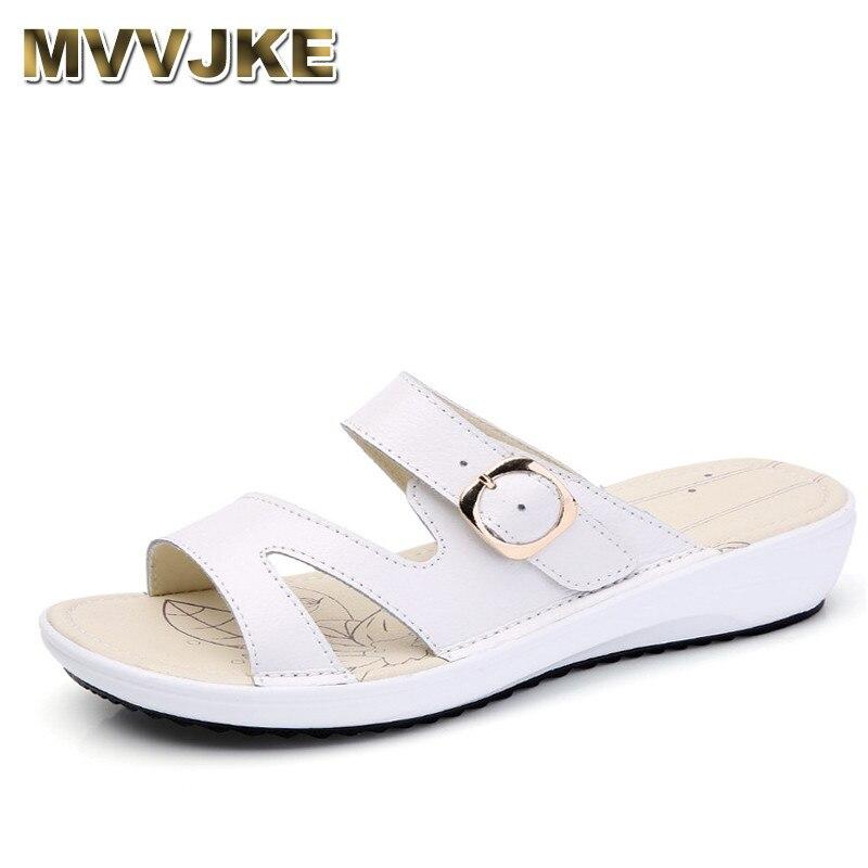 3341b0aefe930 kilobili 2018 Summer women flat sandals Shoes white leather casual slippers  round toe fringe slides sandals ...