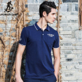 Pioneer Camp mens polo shirt brands dark blue solid polo shirt comfortable and breathable 100%cotton polo homme 622044