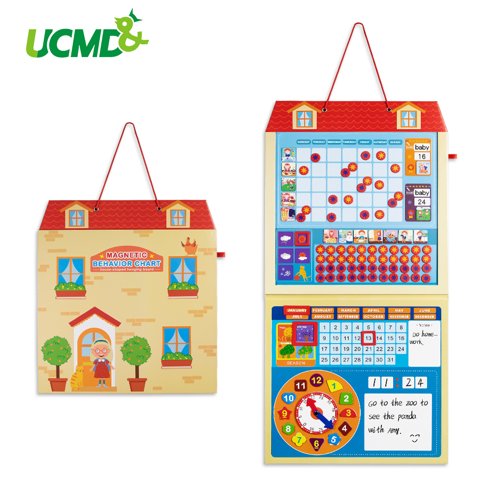Cartoon Magnetic Calendar Kids Activity Reward Behavior Chart Early Learning Educational Toys Daily Weekly Planner Schedule