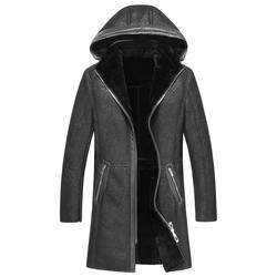 2016 new arrival winter genuine leather 100 sheepskin wool liner wram casual hat detachable coat men.jpg 250x250
