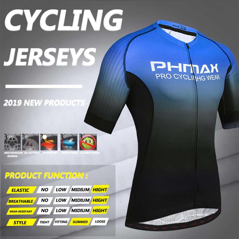 PHMAX プロサイクリング服男性サイクリング服通気性の抗 Uv 自転車半袖サイクリングためジャージセット