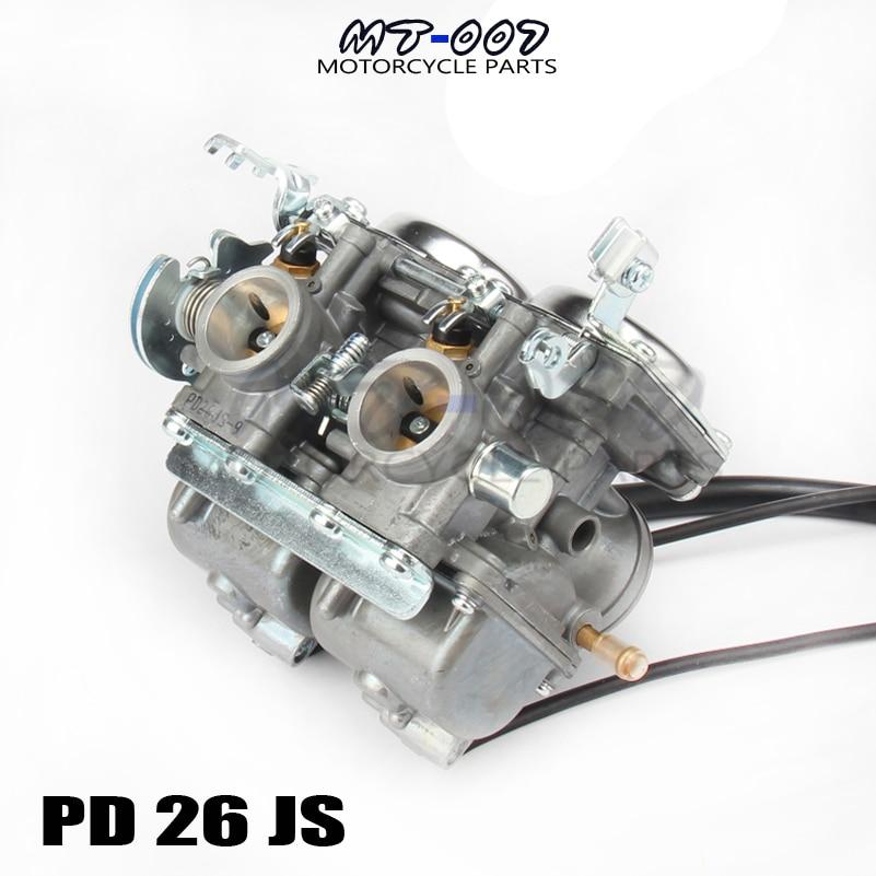 Deux cylindres PD26 26mm PD26JS carburateur 250cc pour Honda 250cc moto moto moto ATV HK-101