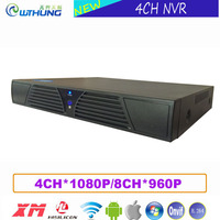 Network Video Recorder 4CH 1080P 8 Channel 960P NVR Hi3520D Sensor Xmeye P2P Metal Case HD