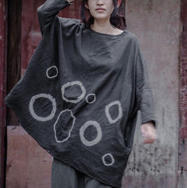 0424bb84c2380 Women Tie Dye Blouses New Arrivals 2016 Plus Size Women Clothing Autumn  Shirt Woman Vintage Cotton