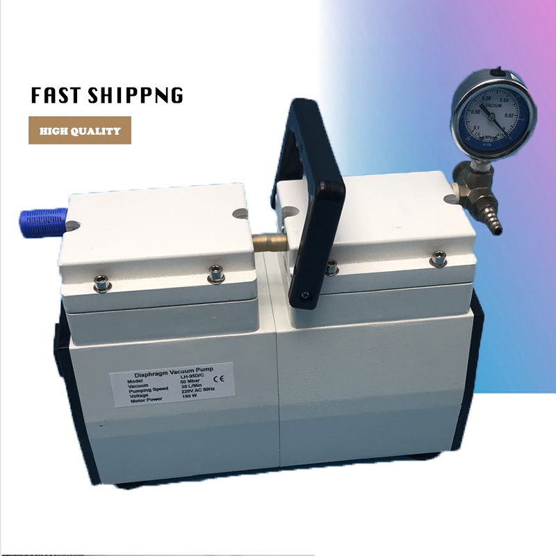 Анти коррозия насос LH 95D/C бытовые одноступенчатые масляный фильтр оригинальные мембранный вакуумный насос + 5 шт. ptfe диафрагма