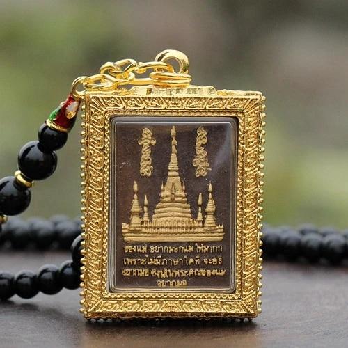 Bronze Metal Sitting Buddha Amulet Pendant AM059