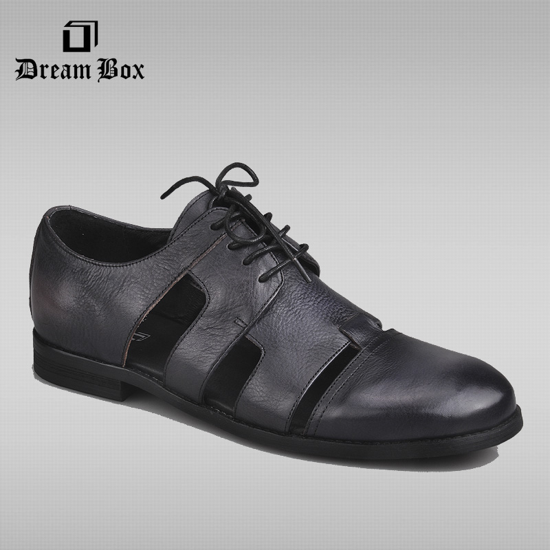 dreambox Summer new style fashionable gentleman style of the style of men's leather shoes new summer