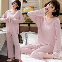 Sweet Thin Modal Cotton Postpartum Mother Nursing Sleepwear Summer Loose Feeding Lounge for Women Fashion Nightwear Pajamas Sets