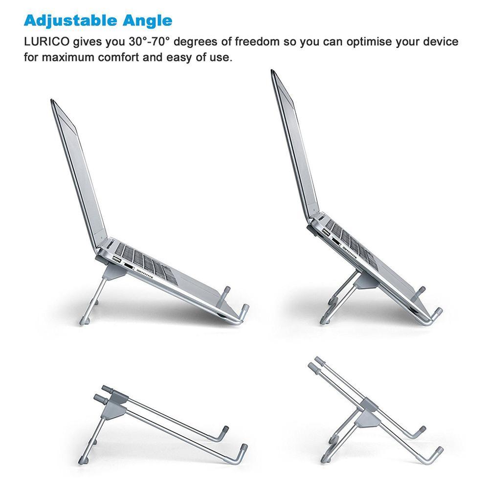 Support de tablette pour ordinateur Portable support pliant Portable tablette haut anti-dérapant Angle hauteur réglable support bureau à domicile