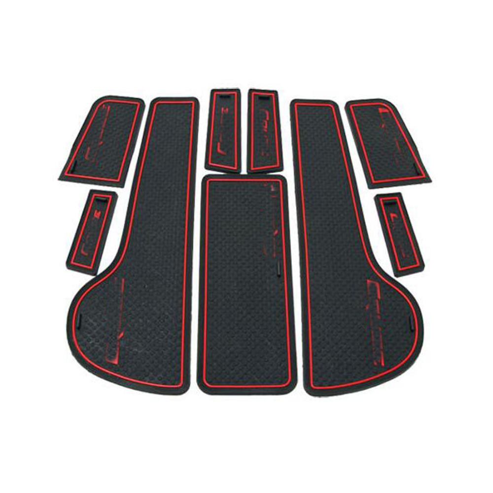 2009-2014 Car Sticker Interior Accessories Door Rubber Non-slip Cup Floor Mats Gate Slot Pad Stickers for Chevrolet Cruze Deco 11 pcs set car styling interior latex gate slot pad non slip cup mat accessories for bmw new 3 series f30 f35 320li 316i 328 lhd