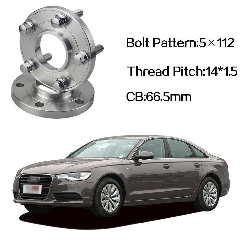 2 pièces 5x112 66.5CB Centric Entretoise De Roue Moyeux M14 * 1.5 Boulons Pour Audi A6 C7 A4 B8 Q5 Q7 A5 A7 A8