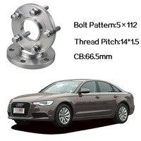2pcs 5x112 66.5CB Centric Wheel Spacer Hubs M14*1.5 Bolts For Audi A6 C7 A4 B8 Q5 Q7 A5 A7 A8