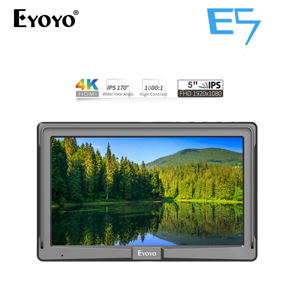 Eyoyo E5 5 Inch DSLR Camera Field Monitoring IPS Full HD 1920x1080 Support 4K HDMI Input Output monitorEyoyo E5 5 Inch DSLR Camera Field Monitoring IPS Full HD 1920x1080 Support 4K HDMI Input Output monitor