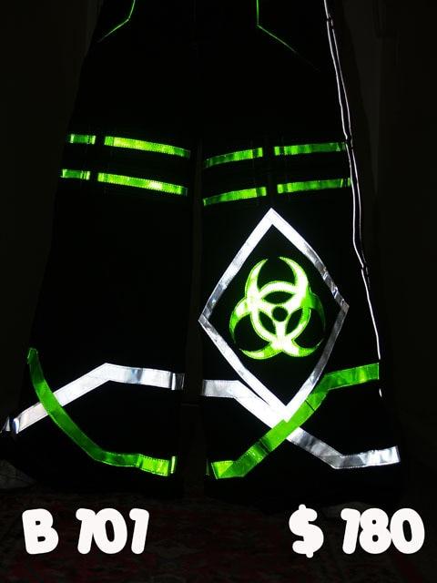 Fashion Bio Shuffle Dance Pants Raver Ore Techno Hardstyle Tanz Hose Melbourne Shuffle PHAT Pants Hose Custom Size 2016