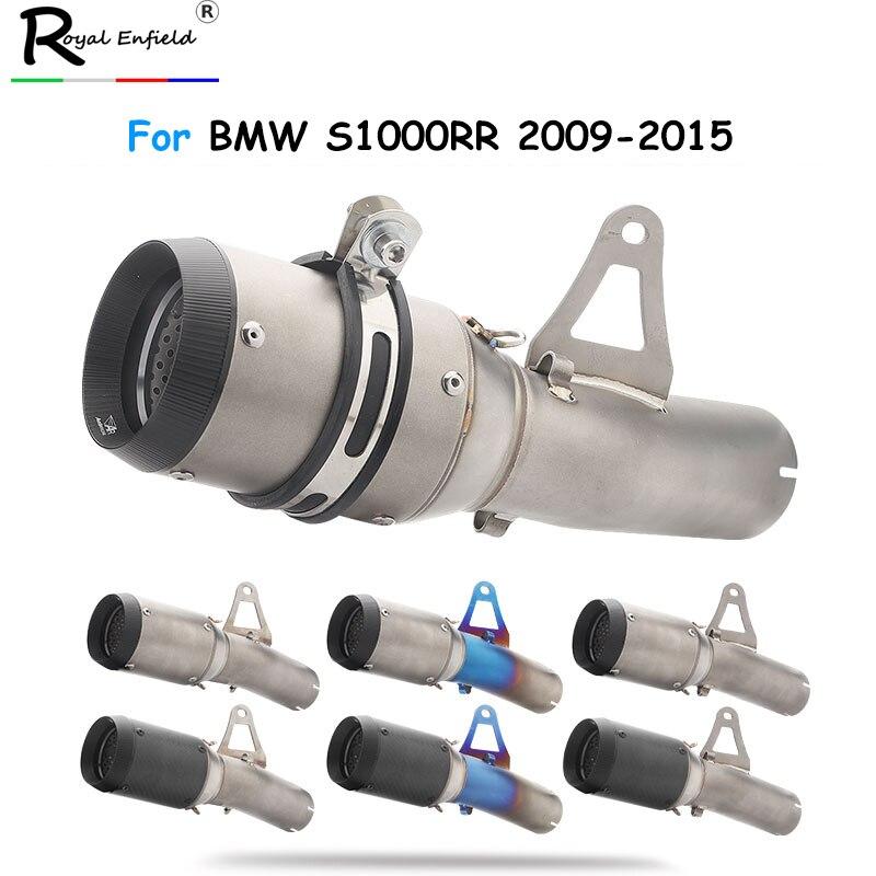 S1000RR 2009-2015 tuyau d'échappement Moto silencieux AR avec tuyau moyen en acier inoxydable pour BMW S1000RR 2009-2015