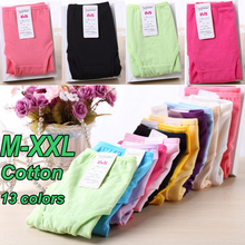 2016 New Cotton Intimates Candy Color Panties Briefs High Quality Women Underwear Plus Size M-XXL Free Shipping