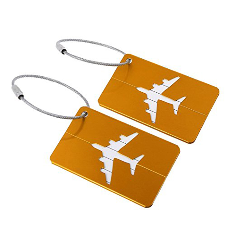 Travel Insurance Tag Bag Suitcase Aluminum Name Address Luggage ID Tags