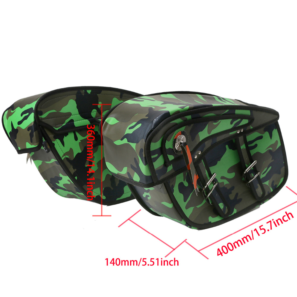 Camouflage Canvas Motorcycle Saddle bag Bike Luggage Bags For Harley Sportster Trouing Dyna XL 883 1200 Yamaha Kawasaki .#MK004 for harley yamaha kawasaki honda 1 pair universal motorcycle saddle bags pu leather bag side outdoor tool bags storage undefined