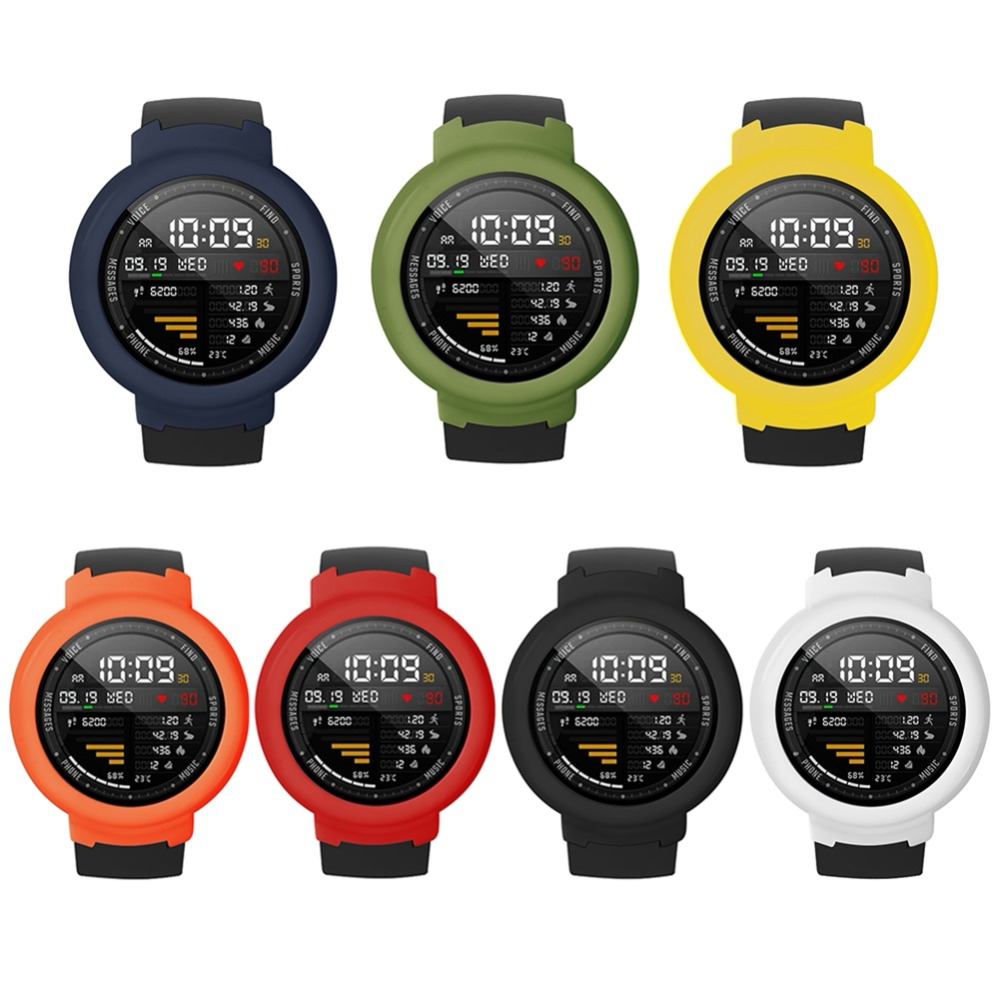 Silicone Protective Case Cover for Amazfit Verge Watch protector for Xiaomi Huami Amazfit 3 Verge Accessories Armour Accessories