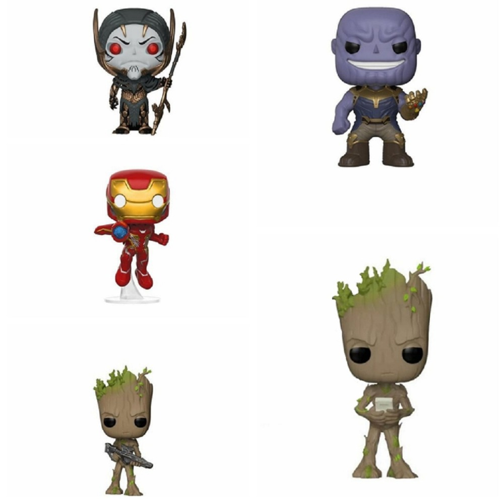 2018 Marvel Avengers 3 Infinity War Thanos Action Figure Thor Toy Iron Man Spiderman Captain America Black Panther Doll With Box marvel avengers infinity war thanos ironman spiderman thor captain american venom hulk black panther figure vinyl model toys