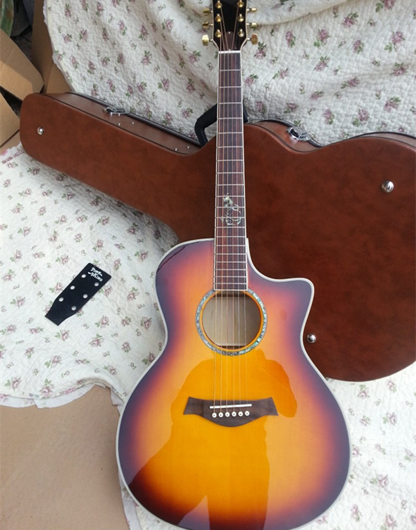 2018 new factory chaylor 612ce acoustic guitar 614ce acoustic electric guitar ksg tobacco. Black Bedroom Furniture Sets. Home Design Ideas