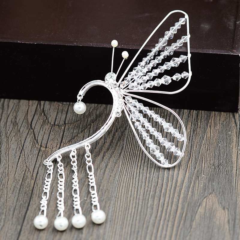 Korea Style Crystal Bridal Butterfly Earring Events Party Accessories Bling Bling Junior Quinceanera Party Jewelry Earring