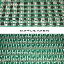 Free shipping 100pcs DC5V 15mm WS2811 Circuit Board PCB Square Making LED Pixel Module IC Chip Light Lighting tape ribbon