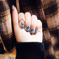 New 24 pieces Sexy Black Lace Lady DIY Fashion Style Desgin Plastic Art Short Fake false Sticker Nail Tips With Glue Gel