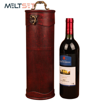 Handmade Wood Red Wine Box Portable Bottle Package Wine Storage Box with Handle Kitchen Bar Accessories Creative Gift