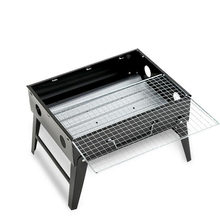 Portable Thick Folding Household Barbecue Outdoor Black Steel Furnace