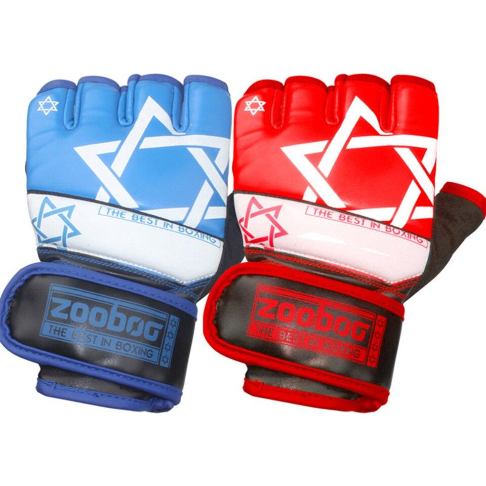 Zooboo Sandbag Boxing-Gloves Sports-Equipment Fighting MMA Muay-Thai Training Half-Finger