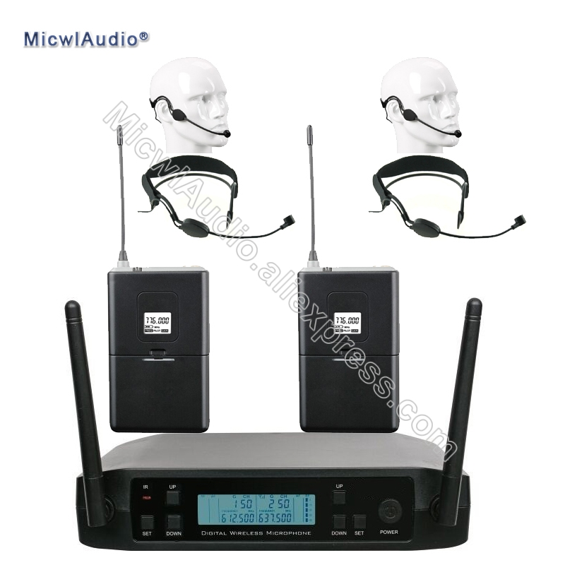 UHF 2 Bodypack With Headset Lavaliver Single Omnidirectional Wireless Microphone Frequency Adjustable Perfect For Stage KaraokeUHF 2 Bodypack With Headset Lavaliver Single Omnidirectional Wireless Microphone Frequency Adjustable Perfect For Stage Karaoke