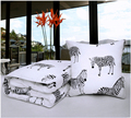 automobile interior seat support, black and white classic style pillow blanket,filling hollow cotton,polyester material