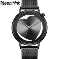 """Часы """"Geekthink"""" с циферблатом в виде сердца"""