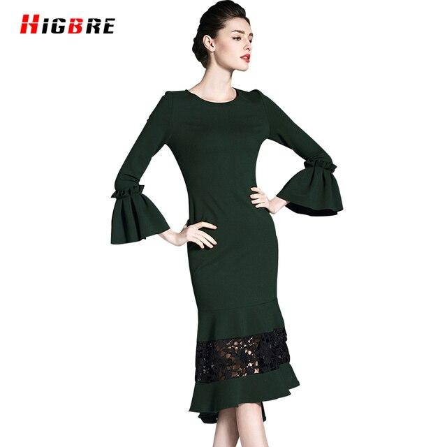 Green Trumpet Dresses