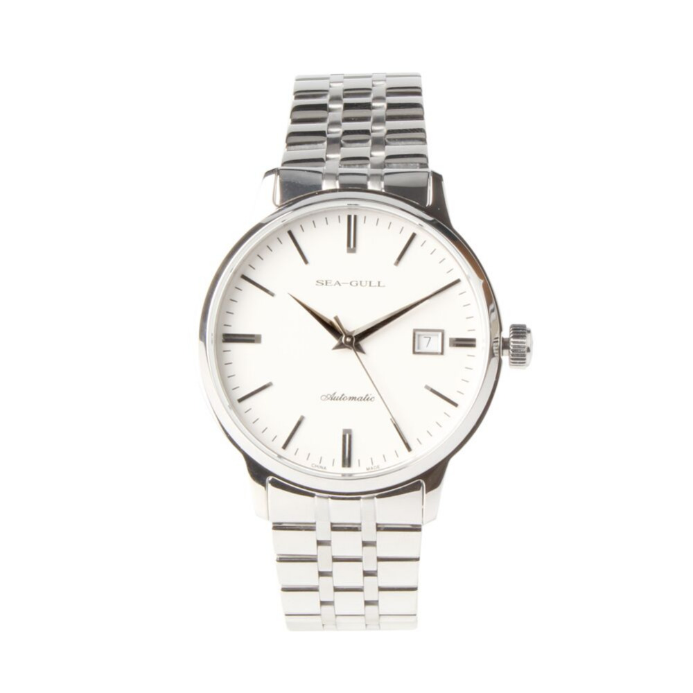 PVD With Stainless Steel 3 Hands Genuine Seagull 816 362 Exhibition Back Automatic Men s Dress