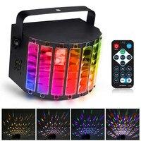 RGBW LED Stage Light Strobe Light DMX512 Auto/Sound Control/DX512 9 Color DJ Disco Lamp +Remote Control US Plug AC90 240V 30W