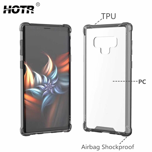 new product 2c618 db0f3 US $1.99 42% OFF|Note 9 Clear Case for Samsung Note 9 Galaxy Note 9 TPU  Bumper Frame+Hard PC Acrylic Back Cover for Samsung s9 S9 Plus  Shockproof-in ...