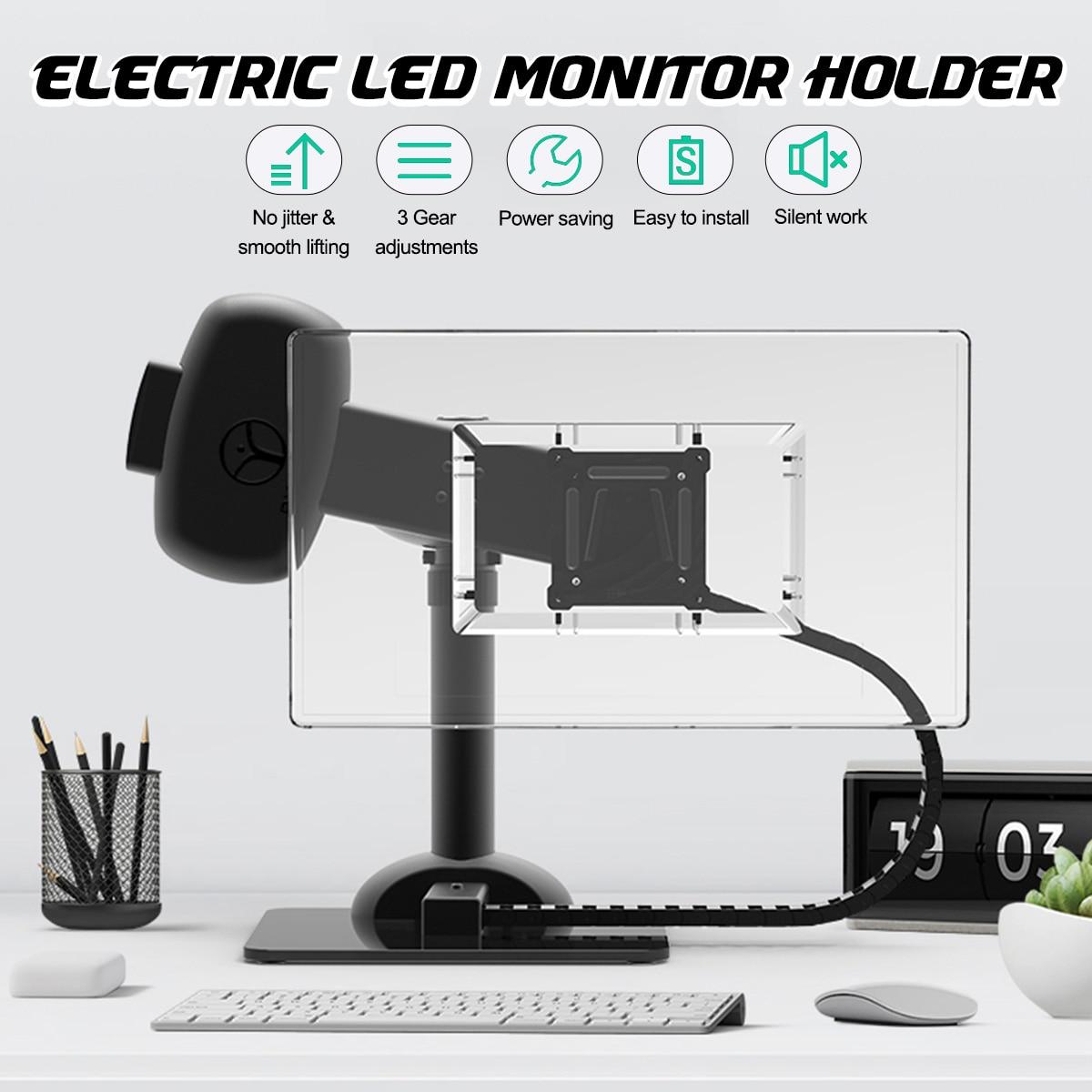 LEORY LCD moniteur LED support pour 10-30 pouces bureau d'ordinateur portable support de montage rotatif cou Relax exercice Machine support de réglage