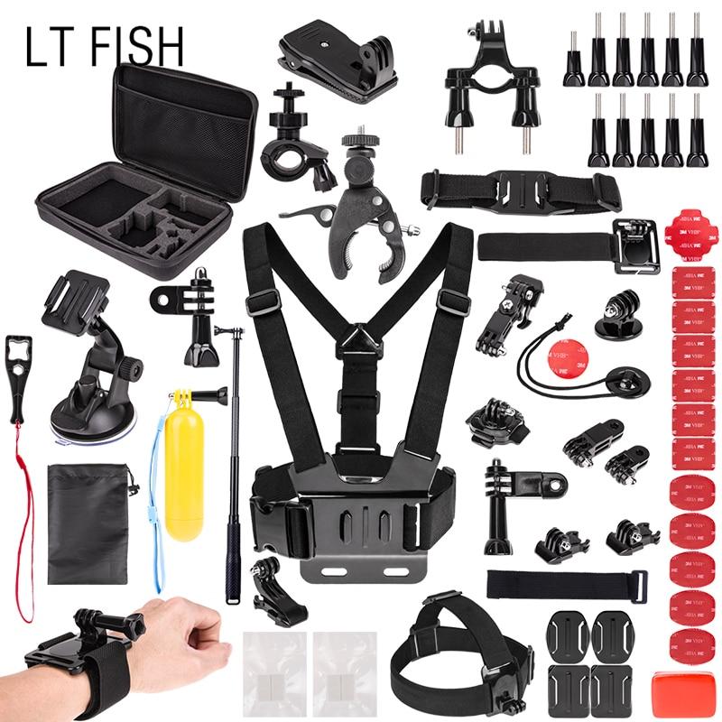LT pescado para gopro accesorios set para Go Pro HERO6 5 4 3 y para SJ4000/SJ5000/SJ6000 /sjcam Xiao mi Yi 4 K/M20 4 K/akaso EK7000