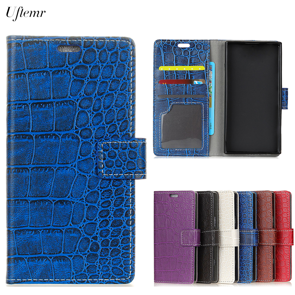 Uftemr Vintage Crocodile PU Leather Cover Silicone Case For ASUS Zenfone V Live V500KL Wallet Card Slot Phone Acessories