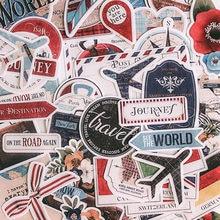 Autocollants Vintage séries drapeau de voyage avion, étiquette Scrapbooking, carte pour Album journal heureux planificateur, décoration artisanale, DIY bricolage