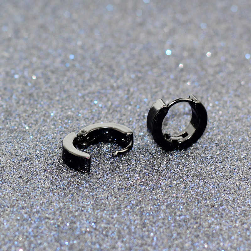 Küçük Hoop Küpe Gümüş Altın 316L Paslanmaz Çelik Hoop Küpe Kadın Erkek küpeler Klip Renkli Daire Küpe e0213